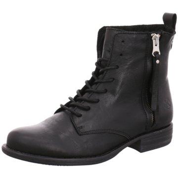 Only A Shoes Schnürstiefelette schwarz