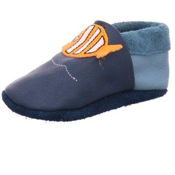 Orangenkinder Hausschuh blau