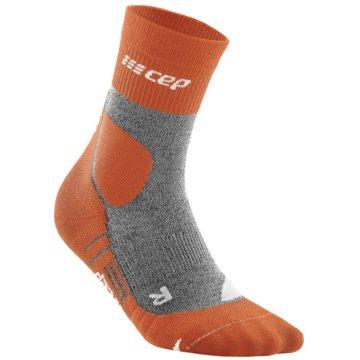 CEP Hohe SockenCE HIKING MERINO MID-CUT SOCKS - WP3C4 orange