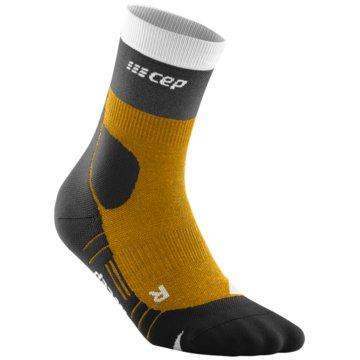 CEP Hohe Socken HIKING LIGHT MERINO MID-CUT SOCKS - WP3C5 gelb