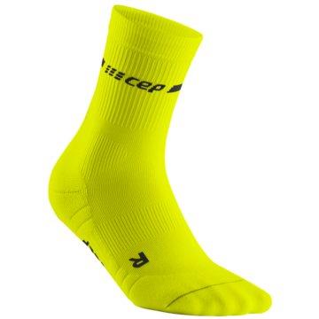 CEP Hohe Socken NEON MID-CUT SOCKS, NEON YELLOW - WP3CG gelb