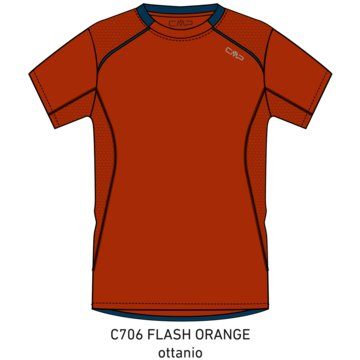 CMP T-ShirtsMAN T-SHIRT - 3C89477T orange