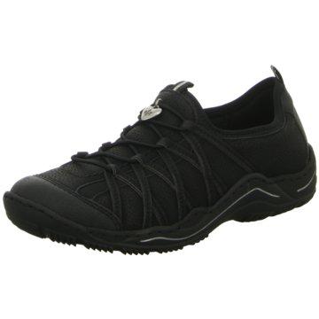 Rieker Sportlicher SchnürschuhSneaker schwarz