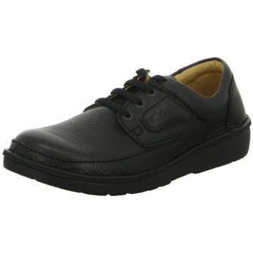 Clarks Komfort SchnürschuhNature II schwarz