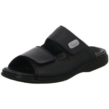 Rieker Komfort SandalePantolette schwarz