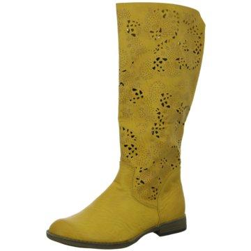 Super In Klassischer Stiefel gelb