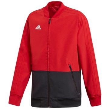 adidas TrainingsjackenCON18 PRE JKT Y - BS0675 rot