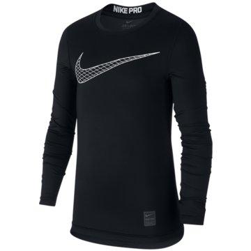 Nike Langarmshirt schwarz