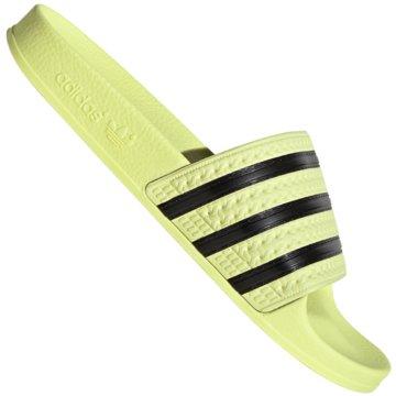 adidas BadelatscheAdilette Pastels Slide gelb