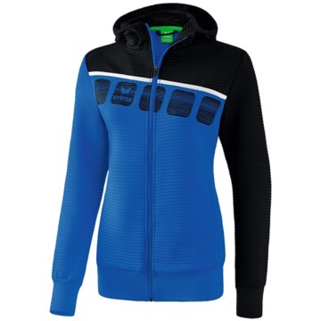 Erima Sweater5-C TRAININGSJACKE MIT KAPUZE - 1031910 blau