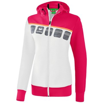 Erima Sweater5-C TRAININGSJACKE MIT KAPUZE - 1031919 weiß