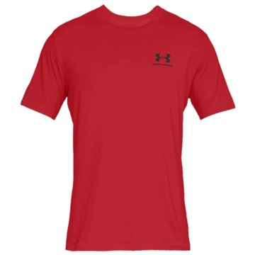 Under Armour Funktionsshirts SPORTSTYLE LEFT CHEST KURZARM-OBERTEIL - 1326799 rot