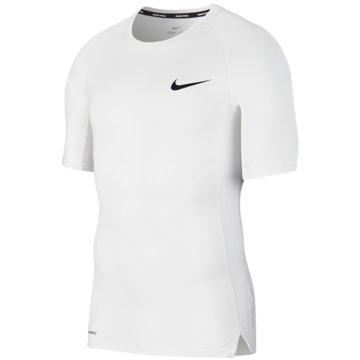 Nike T-ShirtsM NP TOP SS TIGHT - BV5631 weiß