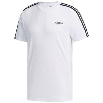 adidas T-ShirtsDESIGN 2 MOVE 3-STREIFEN T-SHIRT - FL0356 weiß