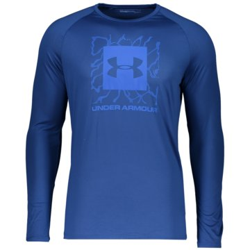 Under Armour LangarmshirtPROJECT ROCK CHARGED COTTON LS - 1351526 blau
