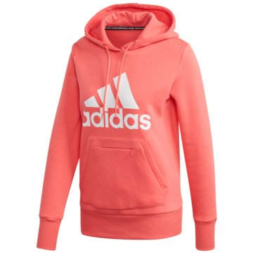 adidas HoodiesMust Haves Badge of Sport Over-head Hoodie Women coral