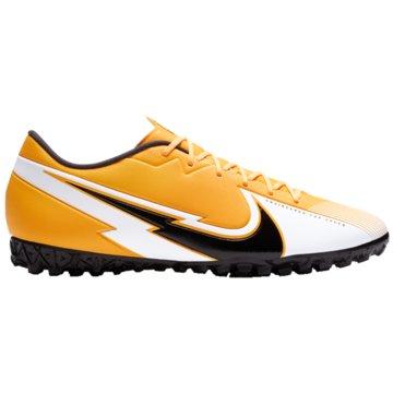 Nike Multinocken-SohleNike Mercurial Vapor 13 Academy TF Turf Soccer Shoe - AT7996-801 orange