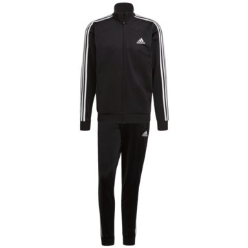 adidas TrainingsanzügePRIMEGREEN ESSENTIALS 3-STREIFEN TRAININGSANZUG - GK9651 schwarz