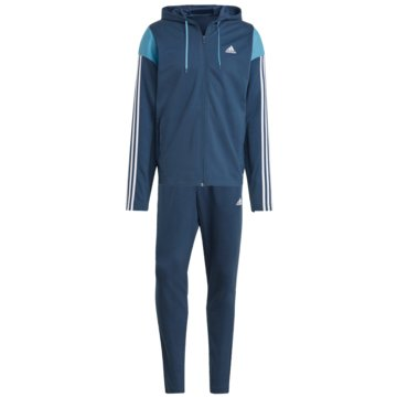 adidas Trainingsanzüge SPORTSWEAR RIBBED INSERT TRAININGSANZUG - GM5798 blau