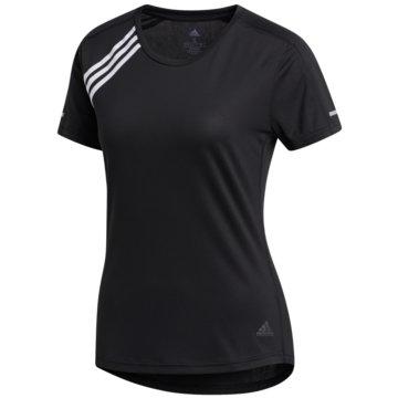 adidas T-Shirts3-STREIFEN RUN T-SHIRT - FK1602 schwarz