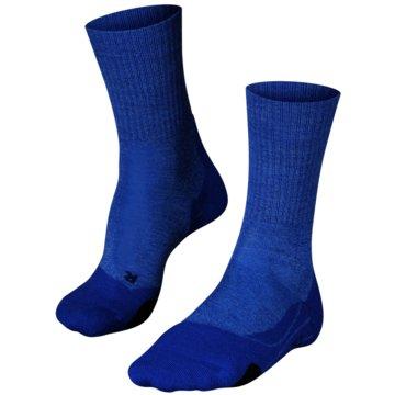 Falke Hohe SockenTK2 WOOL DAMEN SOCKEN - 16395 blau