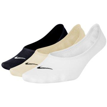 Nike Füßlinge & SneakersockenWomen's Nike Lightweight Footie Training Sock (3 Pair) - SX4863-900 weiß