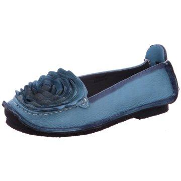 Laura Vita Mokassin Slipper blau