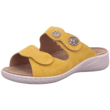 Solidus Komfort Pantolette gelb