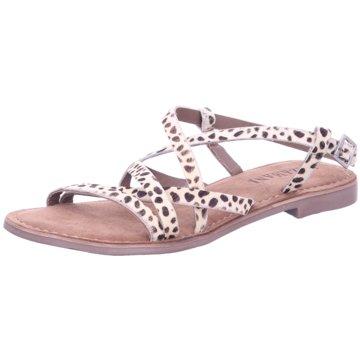 Lazamani Damenschuhe Sandalen  Leder Ohne Verschluss 33546-A-O