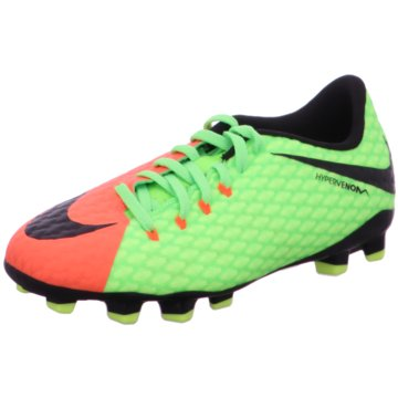 Nike FußballschuhJr Hypervenom Phelon III FG Kinder Fußballschuhe Nocken blau weiß grün