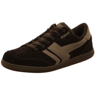 Boras Sportlicher Schnürschuh schwarz