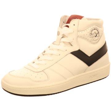 Pony Sneaker High weiß