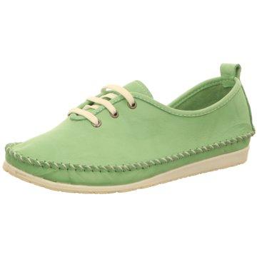 Andrea Conti Mokassin Schnürschuh grün