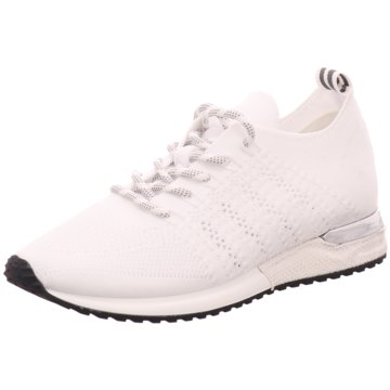 La Strada Sneaker LowLaced up knitted Sne weiß