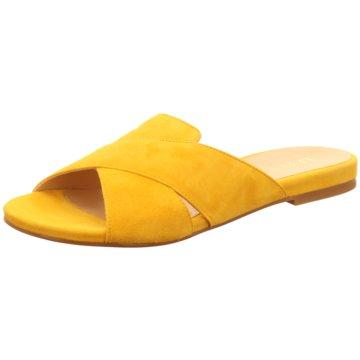 Unisa Klassische Pantolette gelb