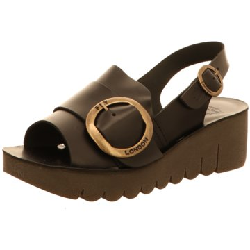Fly London Plateau Sandalette schwarz