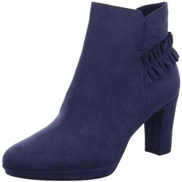 Tamaris Klassische Stiefelette blau