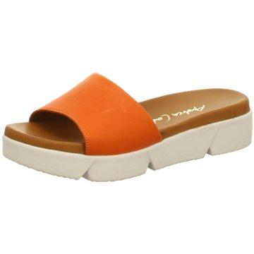 Andrea Conti Plateau Pantolette orange