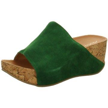 Andrea Conti Plateau Pantolette grün