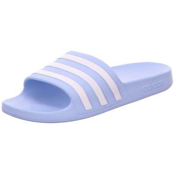adidas BadelatscheCrocband Flip blau