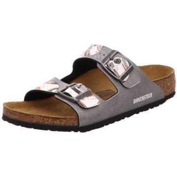 Birkenstock Offene Schuhe silber