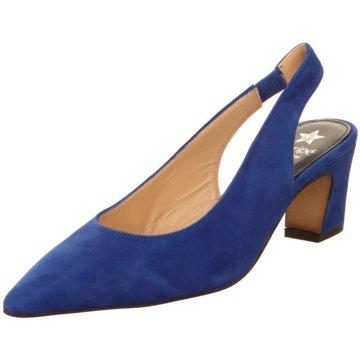 Maripé Slingpumps blau