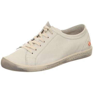 Softinos Komfort Schnürschuh weiß