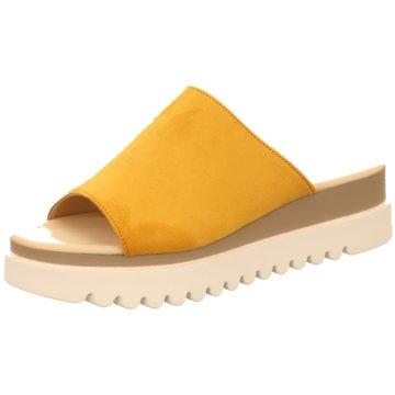 Gabor Plateau Pantolette gelb