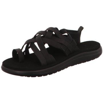 Teva Komfort SandaleW Voya Strappy Leath schwarz