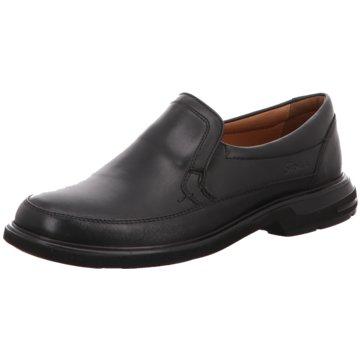 Sioux Komfort Schnürschuh schwarz