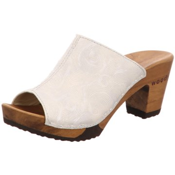 Woody Plateau Pantolette weiß