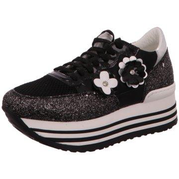 No Claim Plateau Sneaker schwarz