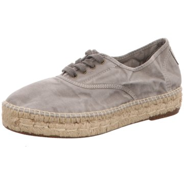 Natural World Eco Espadrilles Schnürschuhe grau