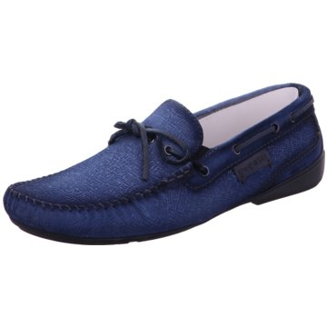 Bugatti Mokassin Slipper blau